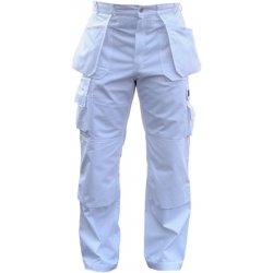 White Polly/cotton Pants