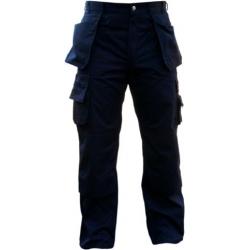 Black Polly/cotton Pants